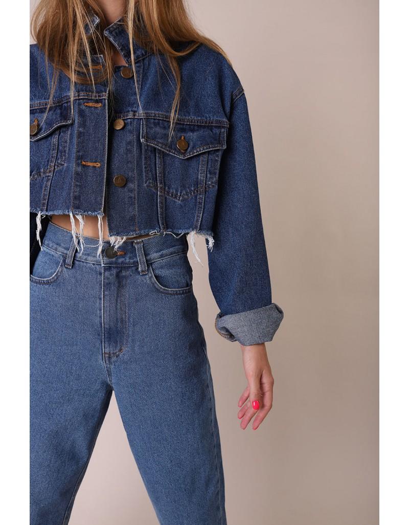 Укороченная джинсовая куртка oversize