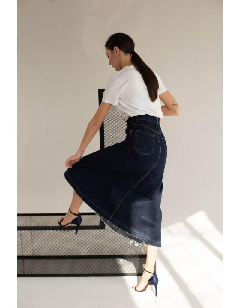 Джинсовая юбка годе