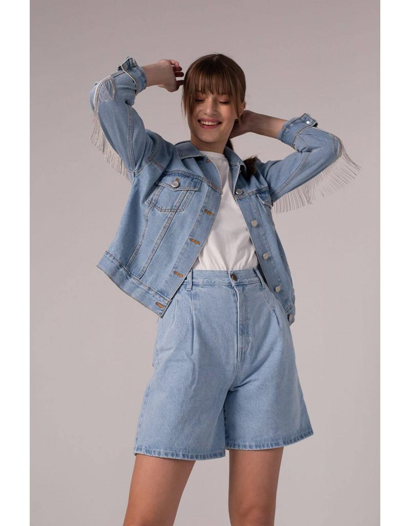 Женские джинсовые шорты свободного кроя