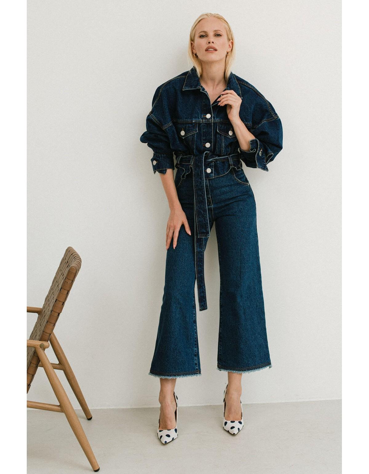Куртка укороченная с джинсовым поясом