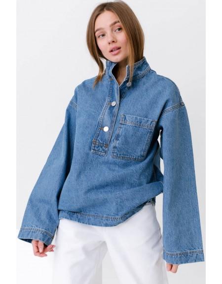 Куртка рубашечного кроя на пуговицах