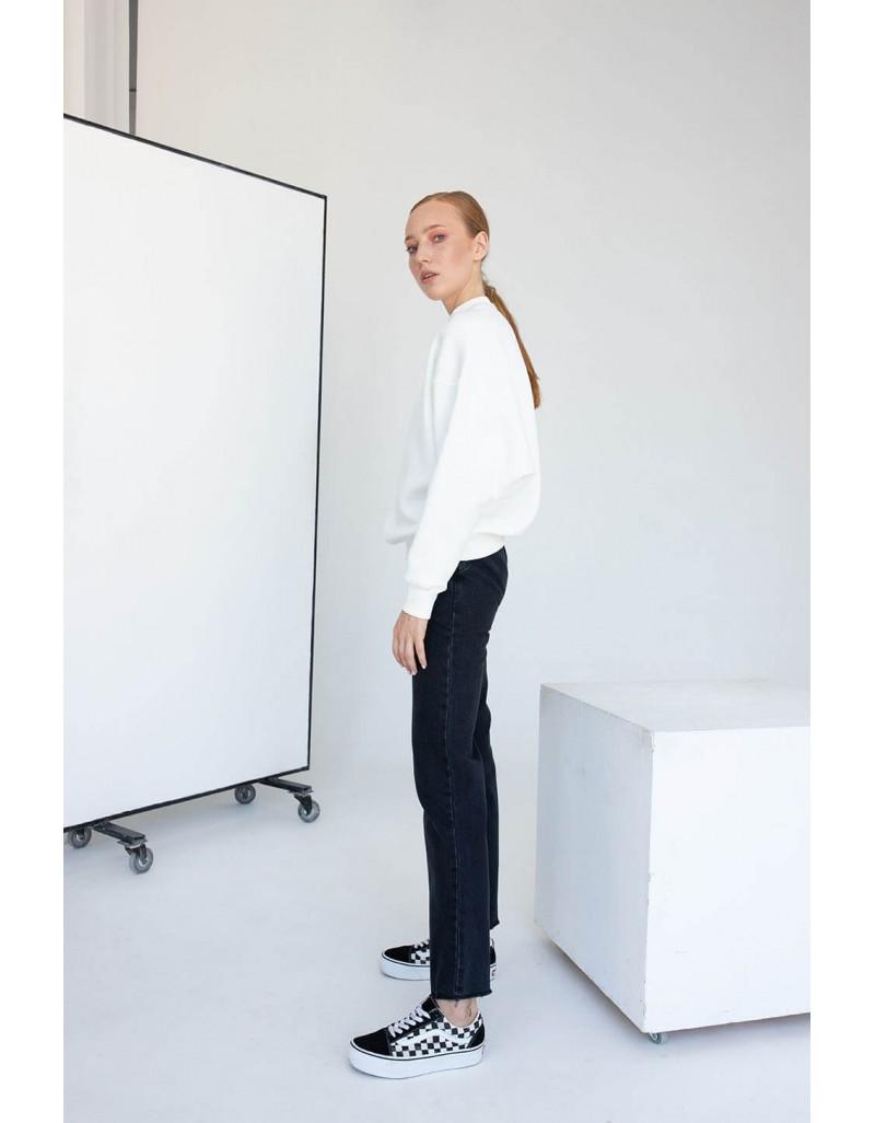 Белый свитшот-реглан